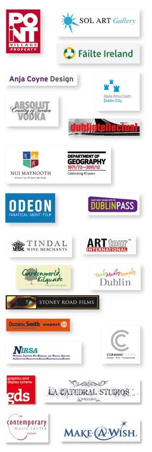 Sponsors of Dublin Biennial Pop-Up 2012